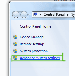add-php-to-windows7-path-step-2-click-advanced-system-settings
